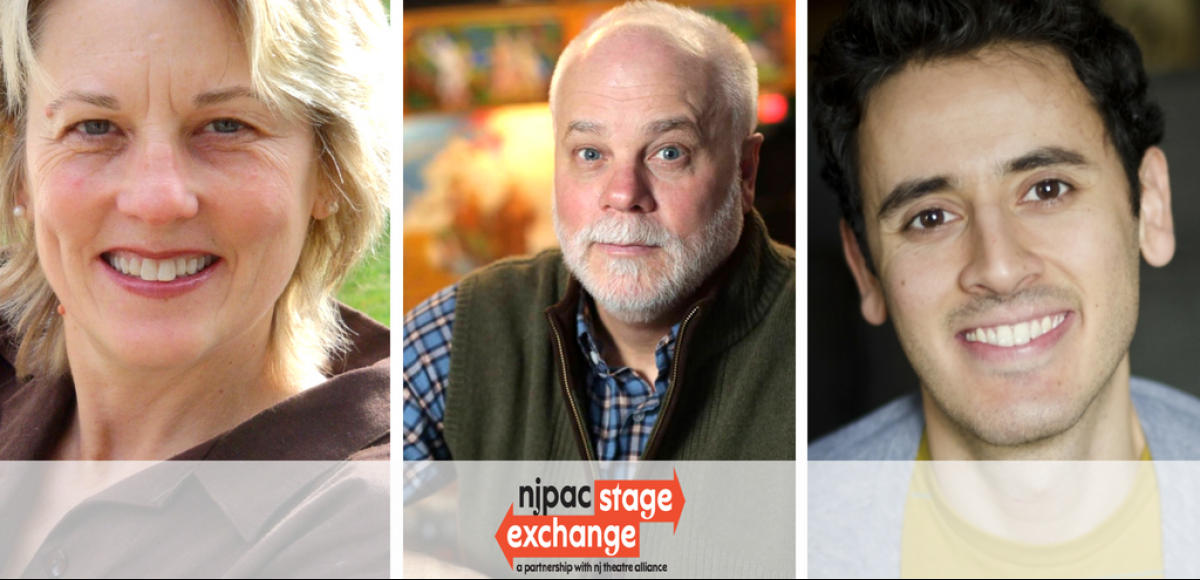 NJPAC Stages Exchange a partnership with New Jersey Theatre Alliance 2018 playwrights Darrah Cloud, Stephen Fredericks, and Tony Meneses