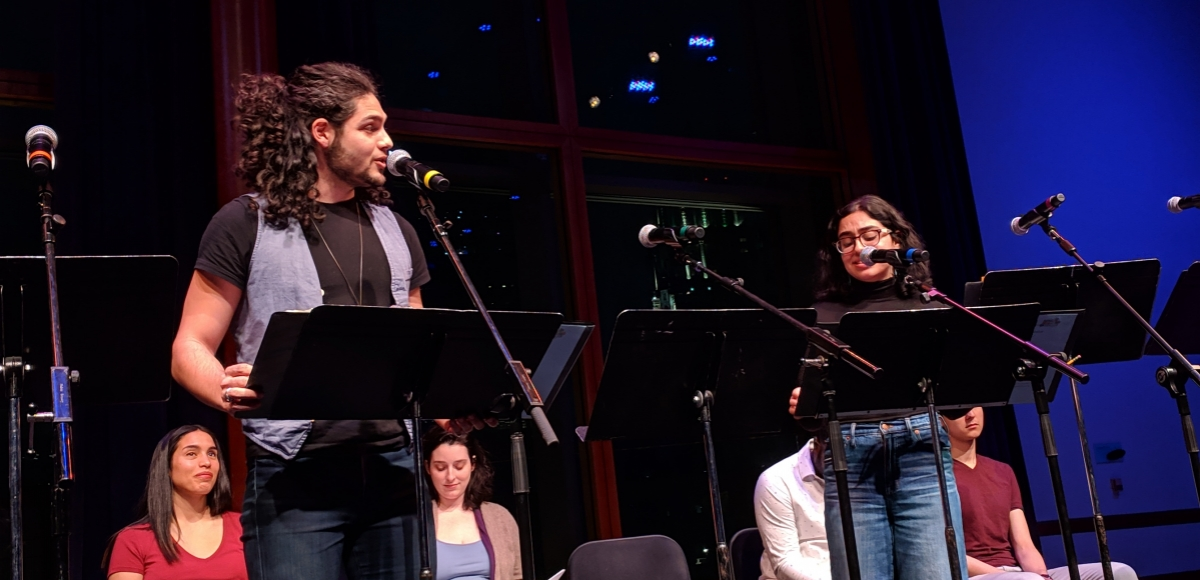 """A reading of """"Silueta"""" at NJPACs Chase Room, commissioned by Passage Theatre"""