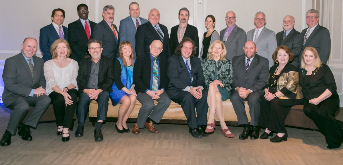 The 33 Artistic Directors of NJ's professional theatres were given Awards of Excellence at 2017 Curtain Call. Photo by Jerry Dalia.
