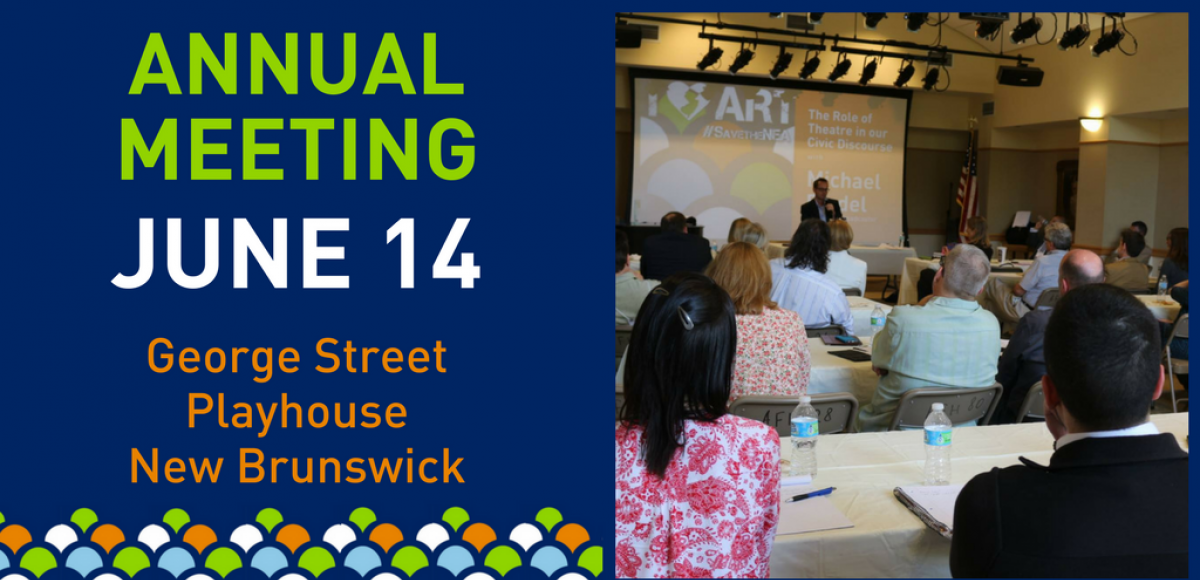Annual meeting is June 14 at George Street Playhouse in New Brunswick