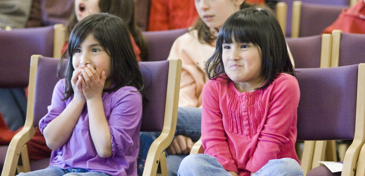 Children enjoying an event at The Stages Festival, an outreach program of New Jersey Theatre Alliance.