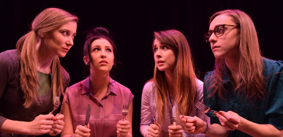 Emaline Williams, Brianna Morris, Ally Borgstrom & Jennifer Robbins in Hitlers Tasters at Centenary Stage Co. 2018