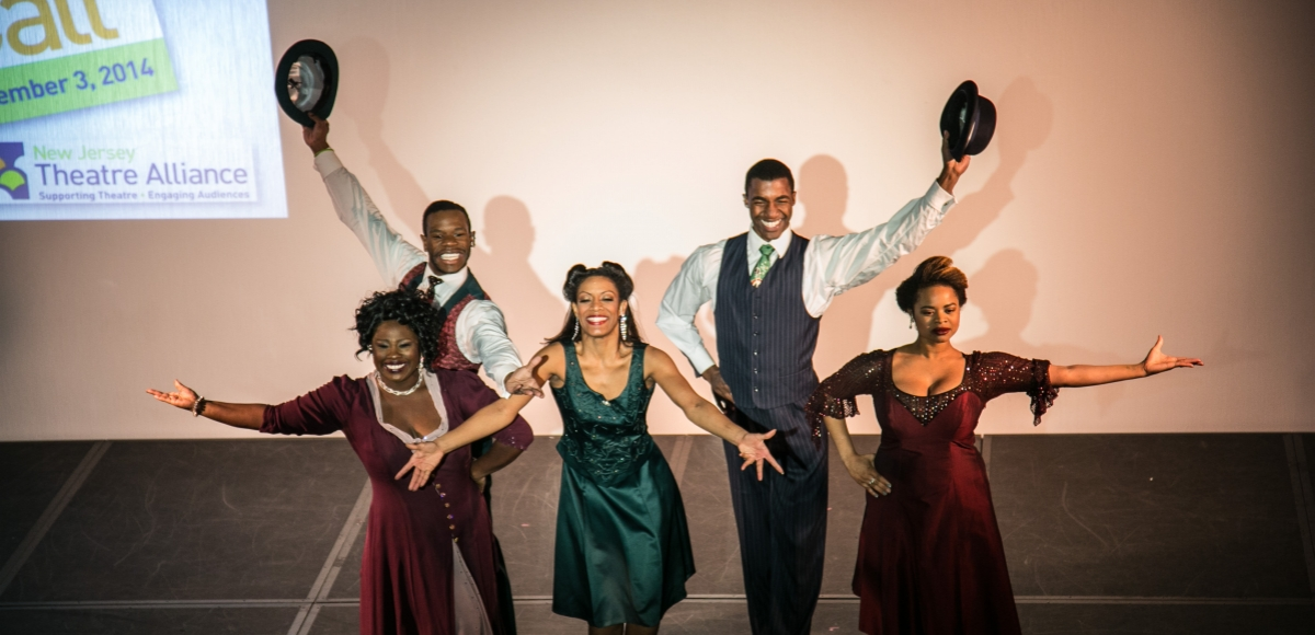 Cast from Crossroads Theatre Company performs at New Jersey Theatre Alliance's Curtain Call - a celebration of the state's professional theatre companies.