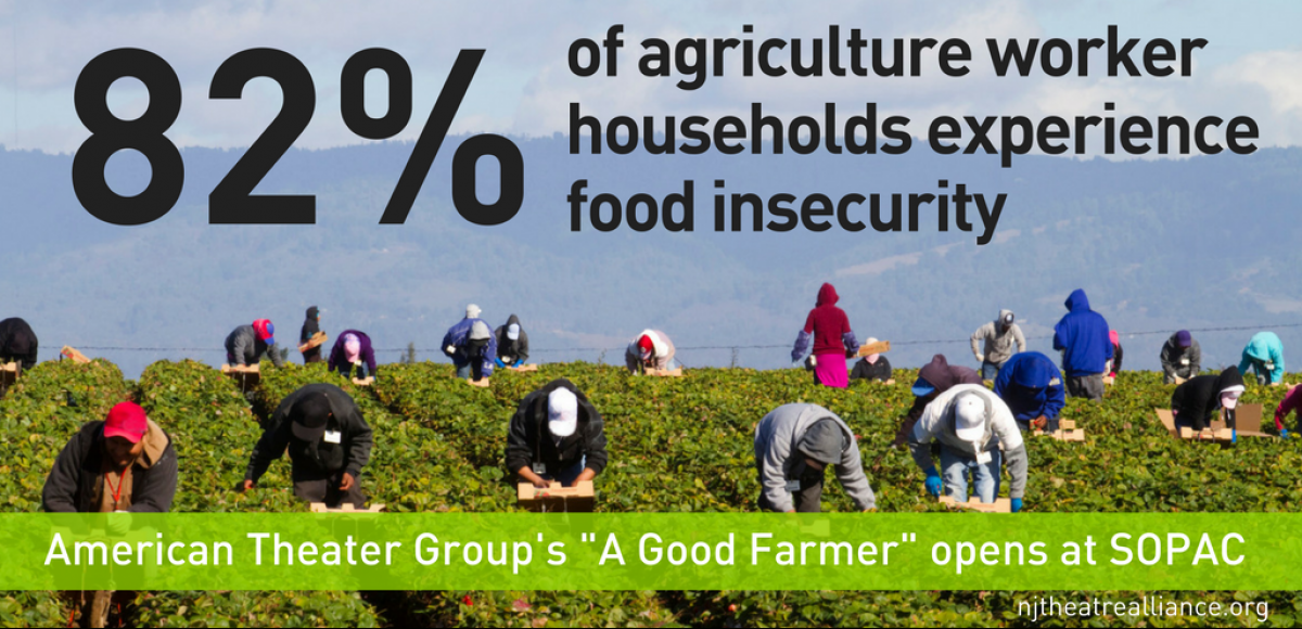 "82 percent of agriculture worker households experience food insecurity; American Theater Groups ""A Good Farmer"" opens at SOPAC"