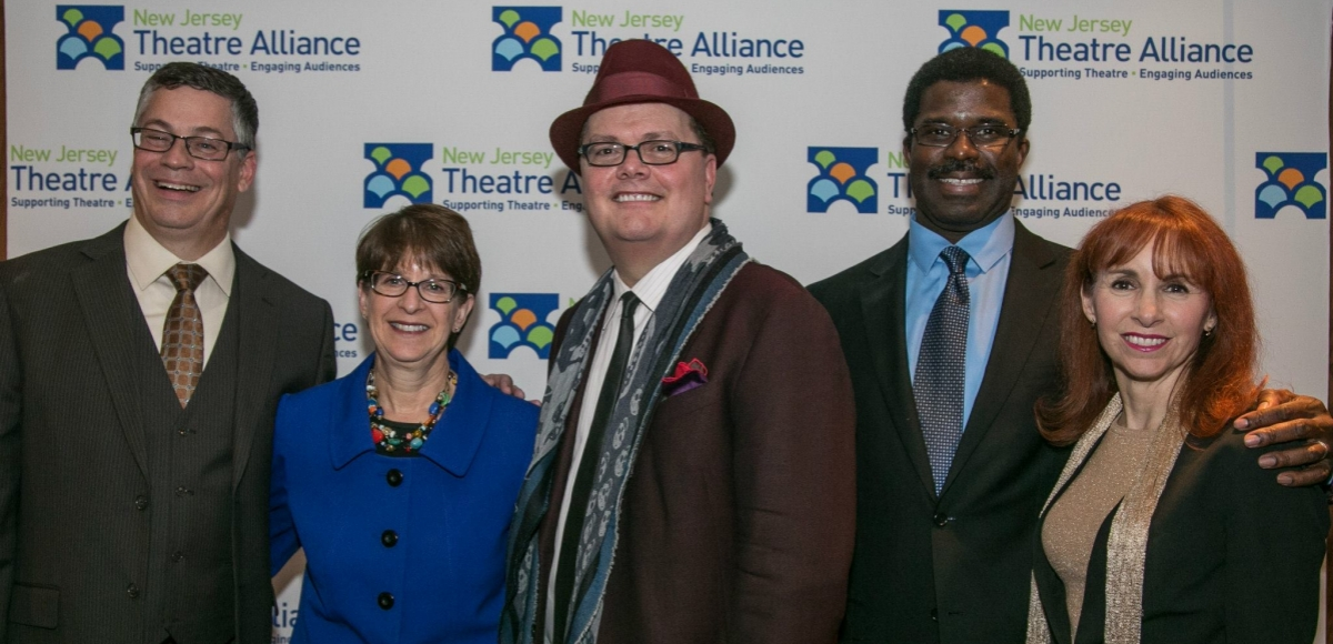 New Jersey Theatre Alliance's ED John McEwen, Kessler Foundation's Senior VP of Grants & Communications Elaine Katz, George Street Playhouse's Artistic Director David Saint, Crossroads Theatre Company's Artistic Director Marshall Jones III and Assistant Secretary of State, Dr. Carol Cronheim were among the awardees of the 2014 Curtain Call Awards