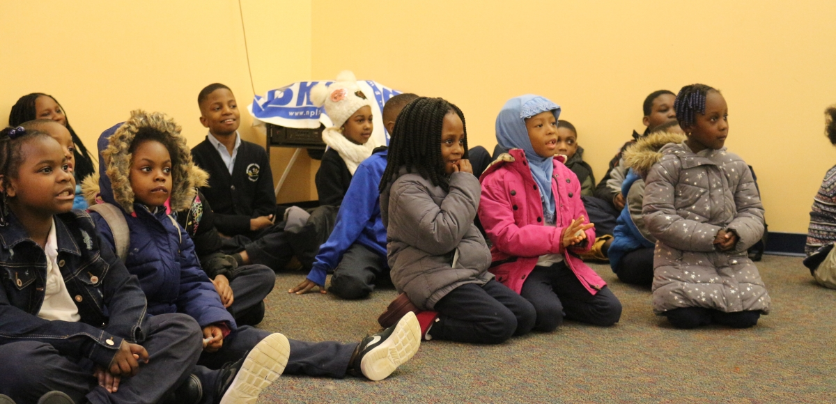 Children enjoy a Stages Festival event at Newark Public Library