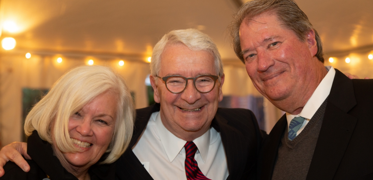 Larry Capo with long-time friends and event co-chairs Linda Kinsey and Don Ehman.