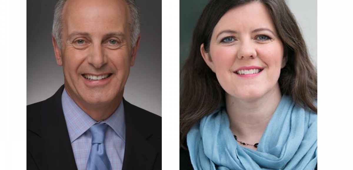 Joseph P. Benincasa, President and CEO of The Actors Fund (left), and Ashley Atkins, PhD, Manager of Corporate Contributions and Community Relation, at Johnson & Johnson (right), will be honored at New Jersey Theatre Alliance's 35th Anniversary Ovation Gala on October 27th at Pleasantdale Chateau in West Orange.