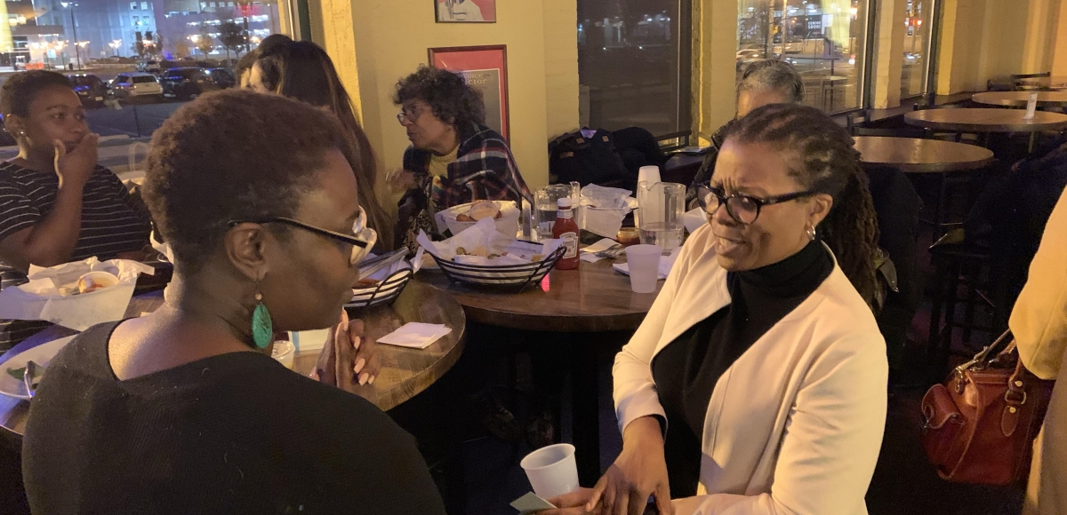 Conversations at the first gathering Camden on November 13, 2019