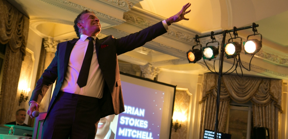Brian Stokes Mitchell performs at the 35th Anniversary Ovation Gala at the Pleasantdale Chateau, 2016. Photo by Jerry Dalia.