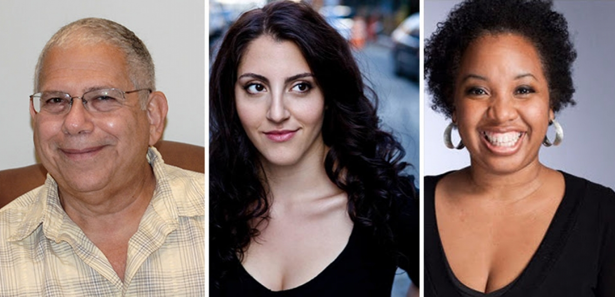 2017 NJPAC Stage Exchange commissioned playwrights Joel Stone, Nicole Pandolfo, and Pia Wilson