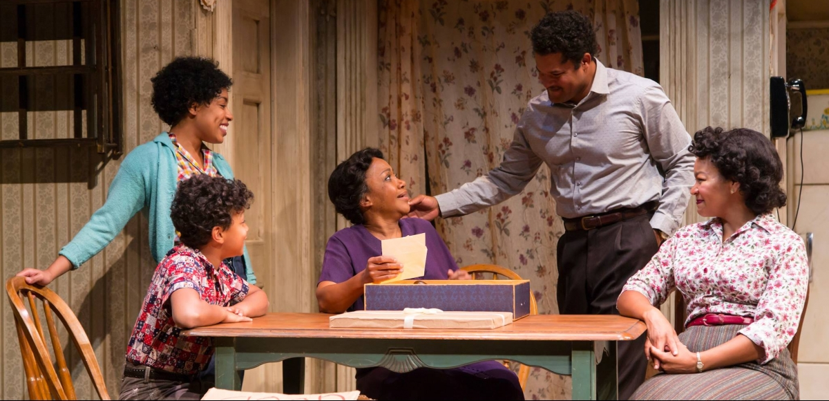 The Younger Family in A RAISIN IN THE SUN. Photo by T. Charles Erickson.