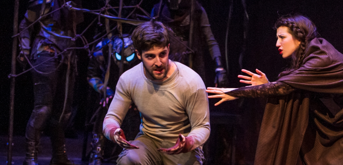 A picture from The Shakespeare Theatres Short Shakespeare series, family-friendly performances of Macbeth.