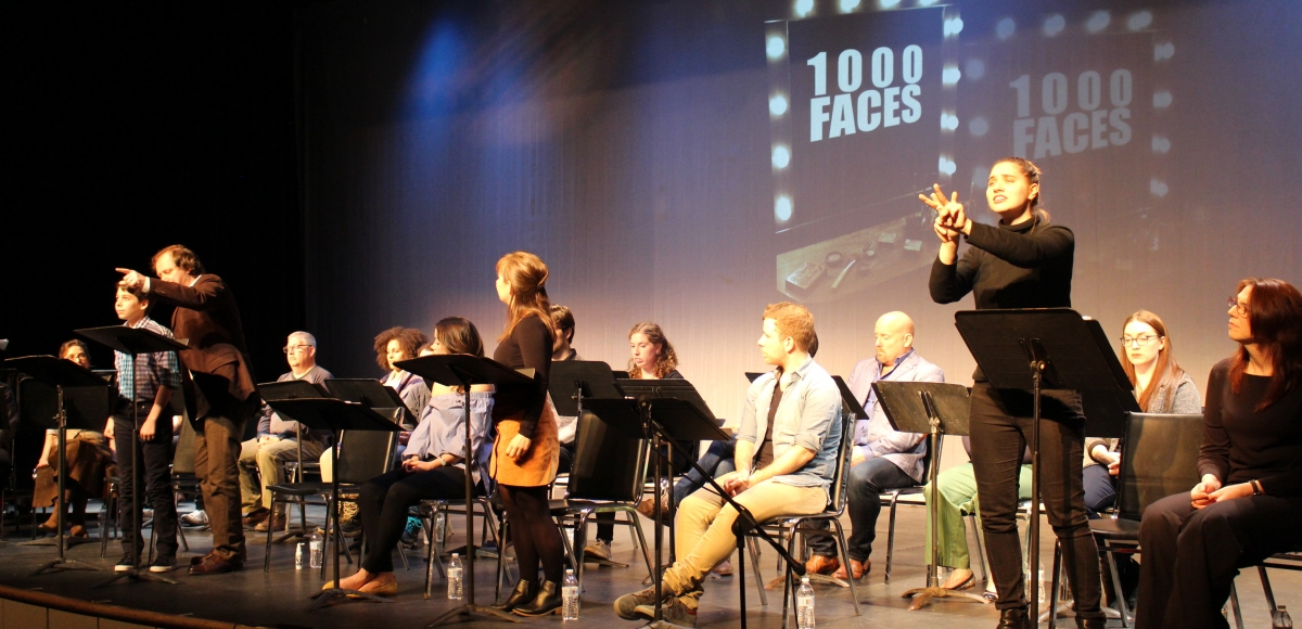 "A sign interpreted performance of ""1000 Faces"" at Skyline Theatre Company"