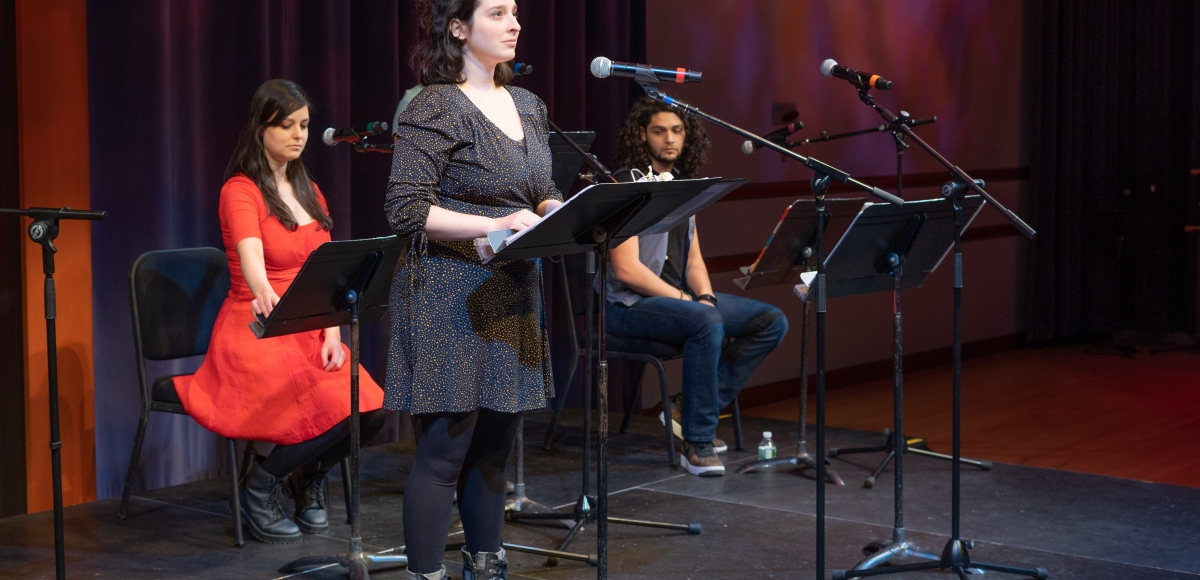 Actors at a staged reading in the 2019 Stages Festival