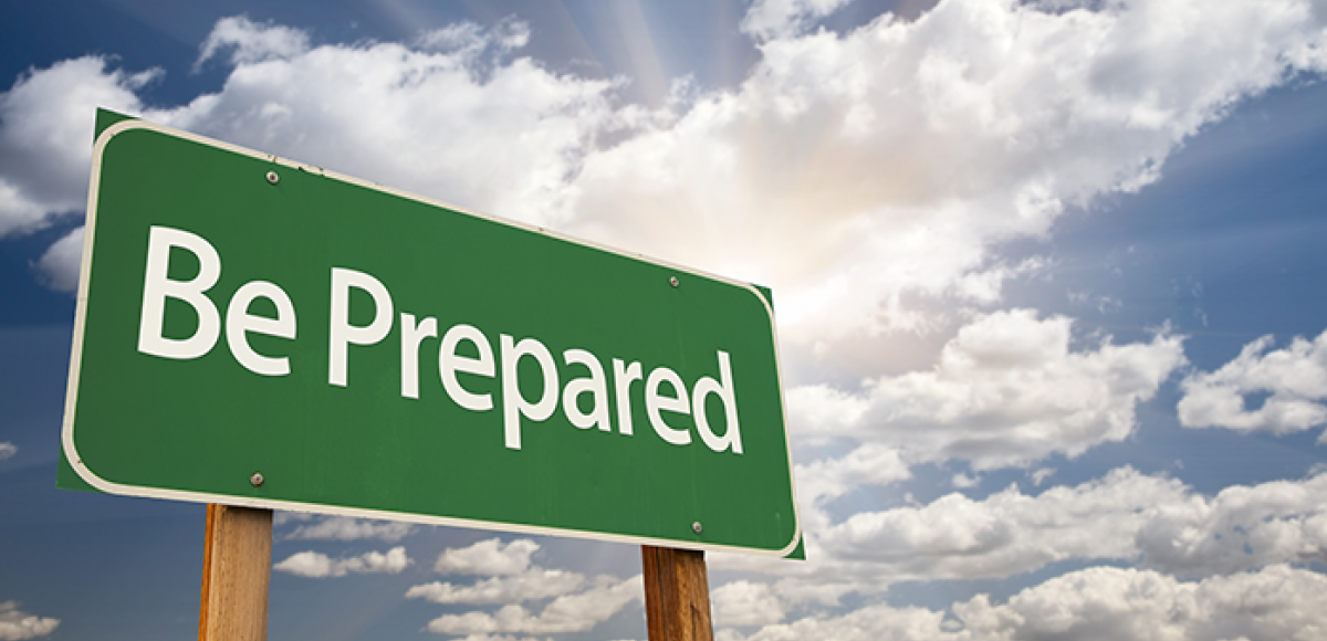 "A highway sign reading ""be prepared"""